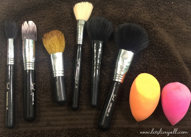 Lets Live Yall Cleaning makeup brushes all clean.jpg
