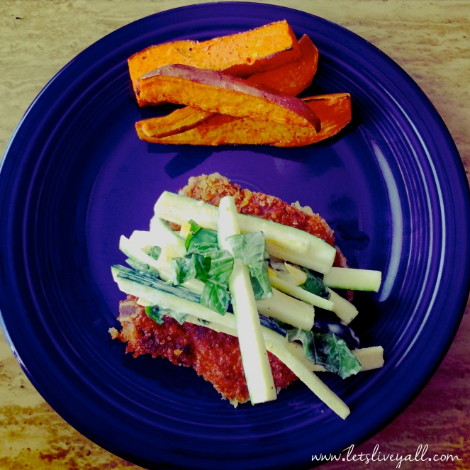 Lets Live Yall Crunchy Pork Chops Recipe Plated