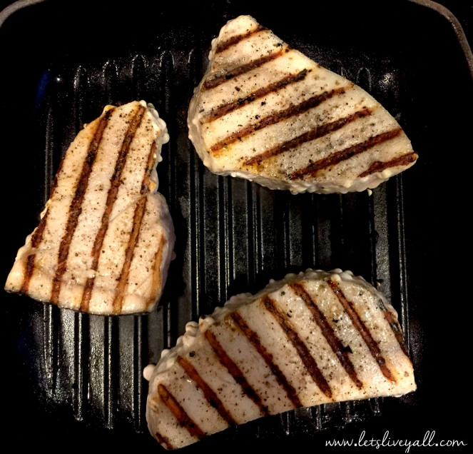 Lets Live Yall Grilled Swordfish cooking