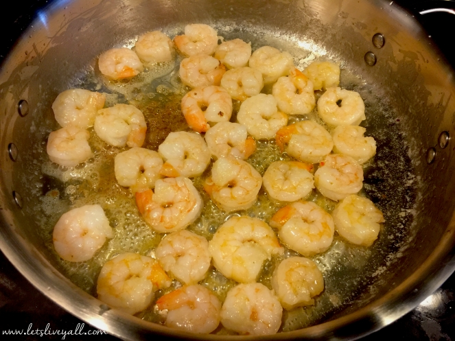 the shrimp and cook on both sides for 2-3 miinutes, until the shrimp ...