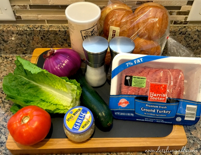 Lets Live Yall Turkey Burgers Ingredients.jpg