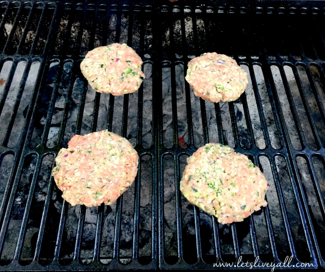 Lets Live Yall Turkey Burgers On the grill.jpg