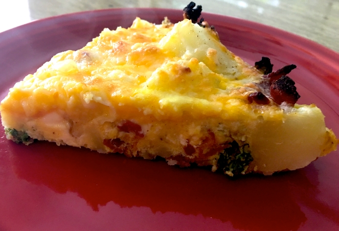 Bacon Kale Fritatta side