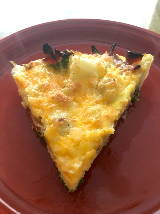 Kale bacon fritatta done